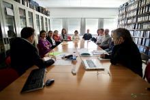 Reunión de evaluación con miembros del Instituto.